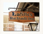 "New Orleans ""Lafitte's Blacksmith Shop Sign"" Photograph. French Quarter  Print. Cajun, Creole, Mardi Gras, Wall Art, Home Decor."
