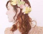 Vintage Autumn Crown of Leaves, Boho Autumn Wedding, Boho Bride, Fall Leaf, Fall Leaves Hair Accessory, October Wedding, November Wedding