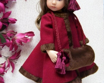 """PDF Pattern for Effner Little Darling  Coat, Hat, Muff and Dress 13"""" Doll"""