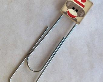 Sock monkey Scrabble Bookmark