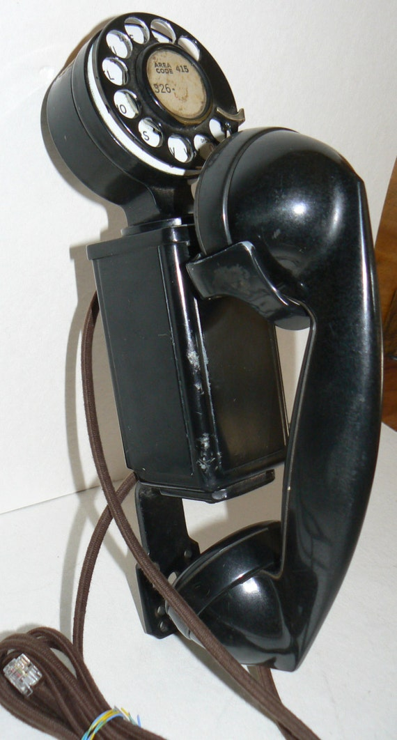 RESERVED FOR Philip -Western Electric Space Saver 41A Wall Telephone 1940s
