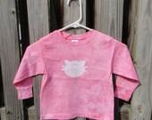 Pink Kids Cat Shirt (4T), Kids Cat Shirt, Pink Girls Cat Shirt, Pink Girls Shirt, Kids Kitten Shirt, Pink Kitten Shirt, Long Sleeve Shirt
