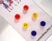 Tween Jewelry Earrings for Sensitive Ears Kids Jewelry in Primary Colors Red Yellow Blue SURGICAL STEEL Posts Cute Earrings Kids Earings