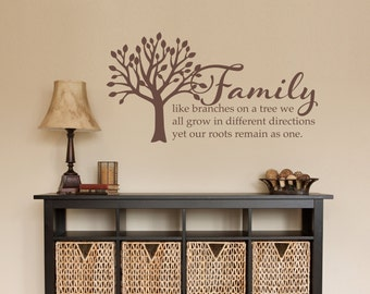 Family Tree Photo Wall family tree decal | etsy