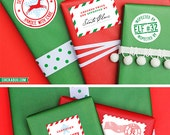 Santa's Workshop Gift Stickers - Set of 15