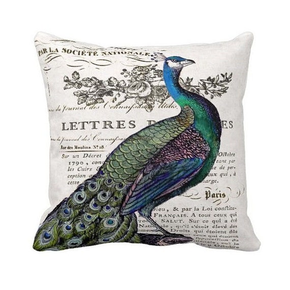 Pillow Cover Vintage Peacock