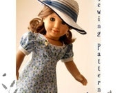 """Sleuth 1930's Dress Sewing Pattern by Dollhouse Designs for 18"""" American Girl Dolls Kit & Molly PDF DIGITAL DOWNLOAD"""