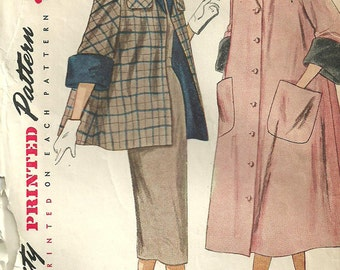 Simplicity 3449 Vintage 50s Sewing Pattern // Coat Jacket // Size16 Bust 34