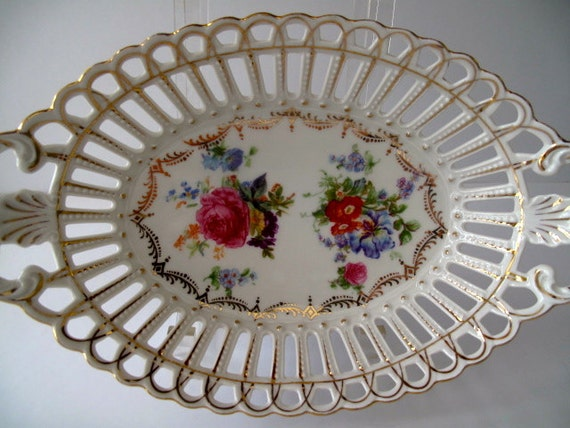Dresden Flowers Oval Bowl