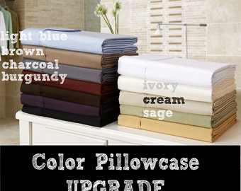 Upgrade from white pillowcase pair to color