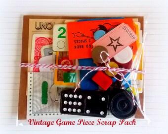 Charming Vintage Game Piece Scrap Pack