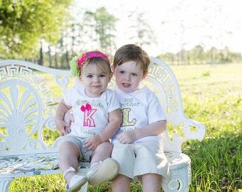 Big Sister Little Brother Shirts - Big Sister Shirt Set - Big Brother Shirt Set - Sibling Shirt and Bodysuit Set