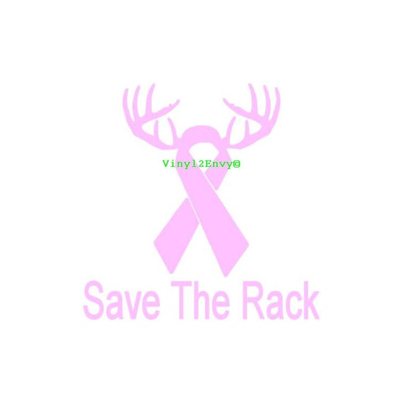Save The Rack Pink Ribbon - Car Decal - Vinyl Car Decals, Window Decal ...