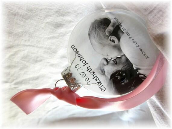 Items Similar To Baby Birth Stats Photo Ornament Custom
