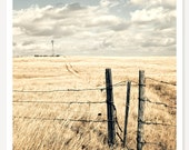 Wyoming - Western Landscape Photograph - Rustic Art - Ranch Decor - Monochromatic Photo - Nostalgic American West Photography - Farmhouse