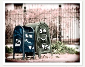 Love You - Cute Photo - Mailbox Photograph - Romantic Love Art Print - Street Graffiti Art - Denver Photo - Fine Art Photograph