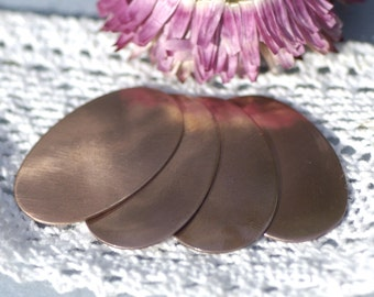 Copper Oval 34mm x 22mm 22g Copper Blanks Shape for Enameling Stamping Texturing - 6 pieces