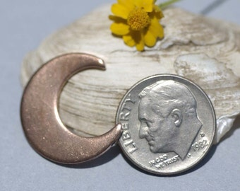 Copper Moon Cheshire 20mm x 17.6mm 20g for Blanks Enameling Stamping Texturing Soldering - 4 pieces