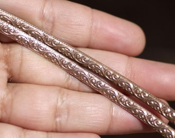 Copper Ring Stock Shank 4.5mm Flourish Textured Metal Cane Wire - Rings Bracelets Pendants Metalwork