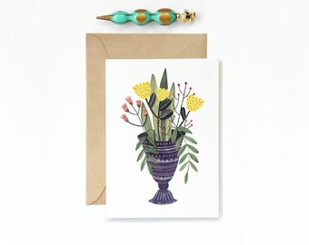 Any Occasion Purple Vase Card