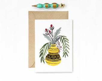 Any Occasion Yellow Vase Card