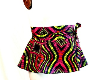 Plus Size Peplum Belt African Print Multi Color Adjustable (2 - 26)