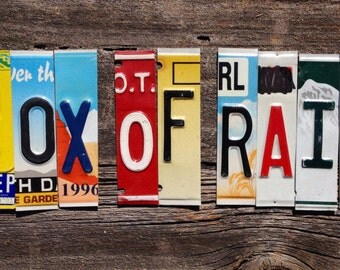 BOX OF RAIN oOAK the Grateful Dead upcycled recycled license plate art sign tomboyART peace