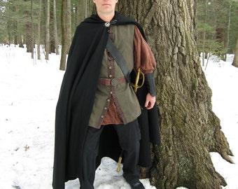 Denim Vest - Pirate Vest - Olive Vest - Renaissance Faire Vest - Renaissance Vest
