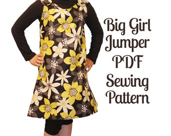 Reversible Girl Jumper Pattern - size 4 to 14 - INSTANT DOWNLOAD