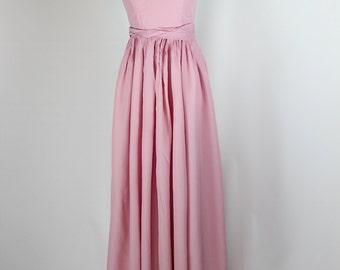 Blush Pink 50s Party Dress -- Sz Xs/Sm