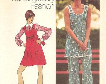 1970s Mini Jumper, Tunic and Pants - Vintage Pattern Simplicity 5520 - B36
