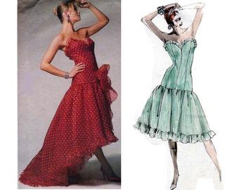 Corset style dress pattern