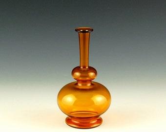 Yellow Vase, Hand Blown Glass