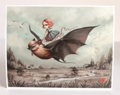 Last ONE - The Wanderlings - Limited Edition signed numbered 8x10 pop surrealism lowbrow Fine Art Print by Mab Graves -unframed