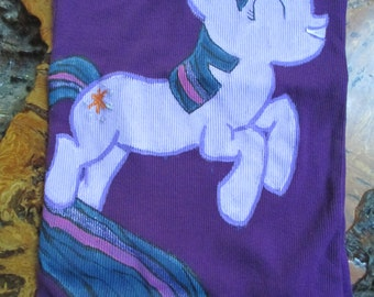 Twilight Sparkle Women's Tank Top, My little pony, Twlight sparkle, purple, purple tank top, kids clothes, small tank top, hand painted,