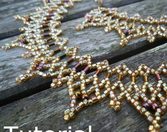Daggers Necklace Beadwork Pattern/Tutorial - Instant Download