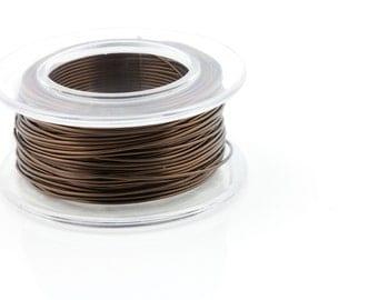 28 Gauge Smokey Quartz - Enamel Copper Wire - 40 yard spool.