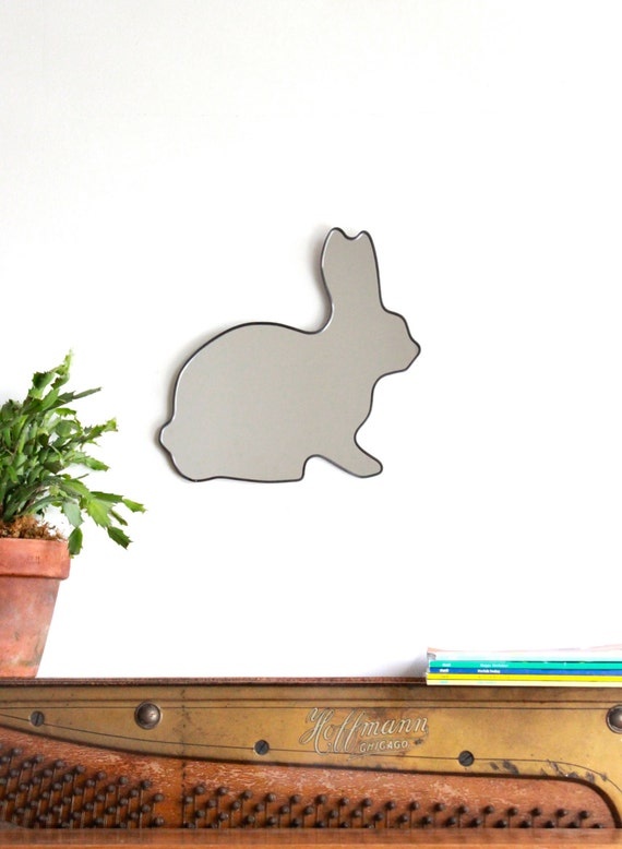 Rabbit Mirror / Handmade Wall Mirror Easter Bunny Hare Peter Cottontail Lapin Miroir Kaninchen
