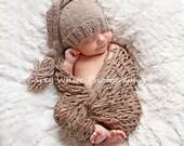 20% off SALE  Newborn photo prop, newborn hat, newborn boy, newborn girl, knit newborn hat, newborn props, newborn elf hat. Choose colors