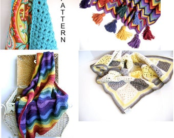 My Favorite 4 Crocheted Blanket Patterns - Get All 4 Patterns for One Low Price