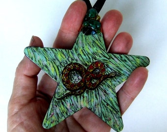 Hand Made Asgard World Snake Creativity Energy Mystery Norse Dragon Ornament