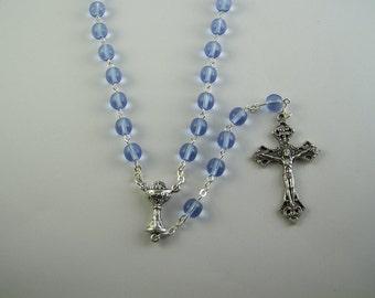 Light Blue Holy Communion Rosary (09)