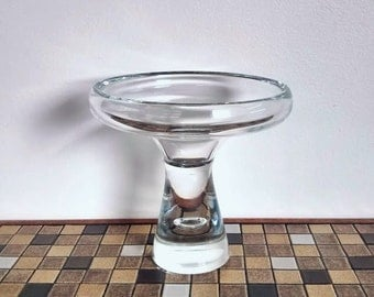 Bengt Orup for Johansfors Large Glass Compote Bowl