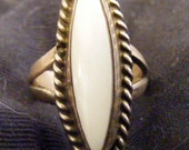 Southwest sterling Mother of Pearl ring