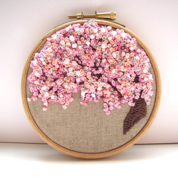 Displayed In This Embroidery Hoop Is A Fantastic: Hand Embroidery Hoop Art . 4 X 4 Inch. Pretty In By Mirrymirry