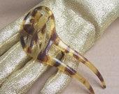Art Nouveau hair comb faux tortoiseshell Spanish comb hair accessory hair jewelry hair ornament hair barrette hair slide hair pin hair pick