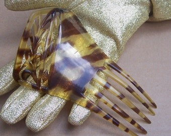 Vintage hair comb Victorian faux tortoiseshell Spanish comb hair accessory hair barrette hair pick hair ornament hair jewelry hair pin