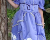Sofia the First Debutant Dress PDF Pattern in girls size 4/5 and 6/7
