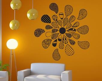 Vinyl Wall Art Decal Sticker Patterned Flower OSDC721s