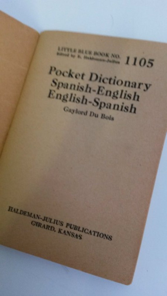 Little Blue Book No. 1105 Pocket Dictionary Spanish-English English-Spanish by Gaylord Du Boisant